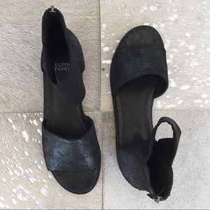 NWOB Eileen Fisher Open-Toe Flat Sandal